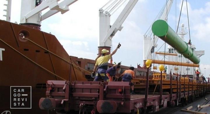 Porto de Lisboa recebe 8.600 toneladas de carril para a IP