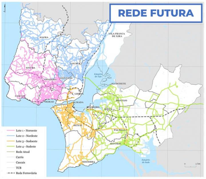 """Lançado o """"Concurso Público para a Contratação de Serviço de Transporte Rodoviário de Passageiros na Área Metropolitana de Lisboa"""""""