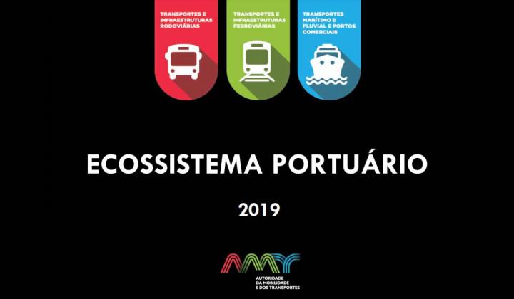 A Autoridade da Mobilidade e dos Transportes (AMT) publica o relatório do Ecossistema Portuário Nacional referente ao ano de 2019