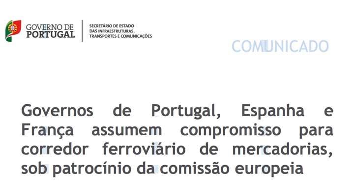Declaração Portugal, Espanha, França, UE sobre o Corredor Ferroviário Atlântico de Mercadorias
